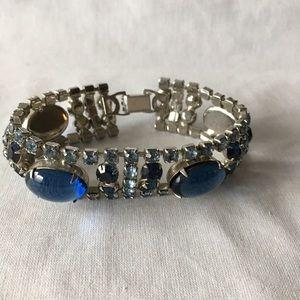 VTG Faux Sapphire Cabachon Bracelet